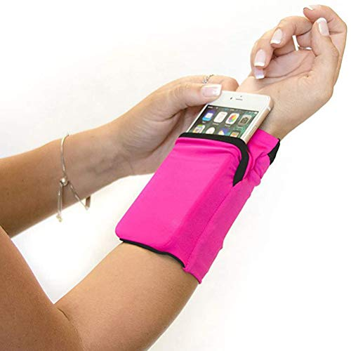 Diantai Sweatband Wrist Wallet Sport Wrist Pocket Pouch Running Sports Bag Mobile Phone Holder Mobile Phone Case for Cycling Travel Sports