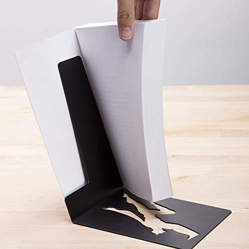 Product Image 6: Decorative Bookends for Shelf or Desk – Black Metal Book Ends – Superhero Bookend – Book Ends for Office – Cool Super Hero Book Stopper / Book Holder / Shelf Dividers – Book & Hero by Artori Design
