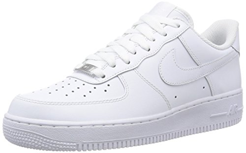 Nike Unisex-Erwachsene AIR Force 1 '07 Sneakers, Weiß, 45 (US 11)