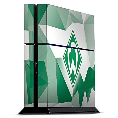 DeinDesign Skin kompatibel mit Sony Playstation 4 PS4 Folie Sticker SV Werder Bremen Tarnmuster Offizielles Lizenzprodukt