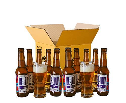 BELOW IPA SIN ALCOHOL. PACK DEGUSTACIÓN REGALO de cervezas SIN ALCOHOL y SIN GLUTEN con 2 vasos Para Disfrutar de Todo el Sabor y Aroma de las Mejores IPA