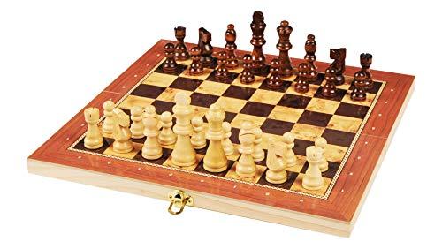 rparty Tablero Madera Ajedrez Magnetico,3 EN 1 Ajedrez y Damas Backgammon en...