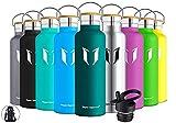 Super Sparrow Trinkflasche Edelstahl Wasserflasche 750ml - Isolier Flasche mit Perfekte Thermosflasche für Das Laufen, Fitness, Yoga, Im Freien und Camping   Frei von BPA, Dunkelgrün