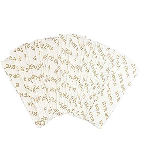 Bye Bra - Nastro adesivo trasparente 3 m, nastro biadesivo alla moda per il corpo, confezione da 20 strisce extra larghe, taglia unica