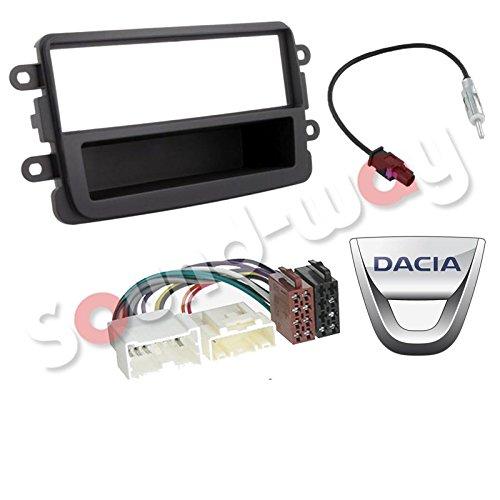 Kit Montage autoradio Adaptateur 1 DIN avec pour Dacia Gris foncé