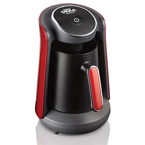 Arzum OKKA Minio Kaffeemaschine, 1-4 Tassen (300ml.), Überlaufschutzsystem, waschbare Kaffeekanne, akustisches Warnsystem, 480W, preisgekröntes Design.