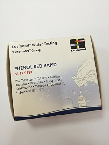 Lovibond Recambio tabletas reactivo medición Red Phenol Lvd. Recarga 250 Ud. Rapid/Manual. 51 17 91BT
