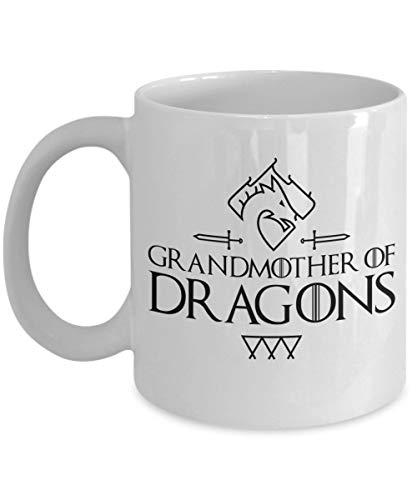N\A Abuela de Dragones-Taza Divertida de la Abuela-Regalos de Juego de Tronos-Mujeres-Taza de Juego de Tronos-Taza de café de Juego de Tronos-Taza