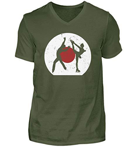 Camiseta de manga corta con cuello de pico de Japón, regalo para los fans de los deportes de invierno, JP, para hombre, cuello en V