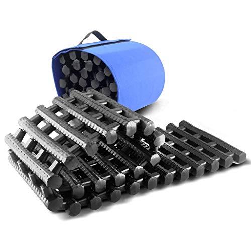 ZXW Auto Rescue Track, Geländefahrzeug selbstfahrende Selbsthilfe-Ausrüstung, Anti-Rutsch/Senkung / Sand Board Schwarzem Gummi 150x22x2.5cm (Farbe : SCHWARZ, größe : 150x22x2.5cm)