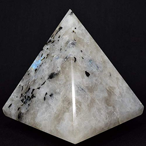 "Energized Gemstones Pyramids Approx 1.75-2"" Inches - Healing Gemstone Crystals - Lapis Crystal Quartz Green Jade Fluroite Iolite Pyrite Aventurine Amethyst Tourmaline Citrine (Moonstone)"