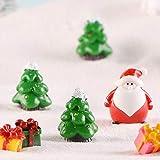 Weihnachtsaccessoire aus Kunstharz, für Puppenhaus, Feengarten, Miniatur-Schneemann, Weihnachtszubehör, Weihnachtsbaum, Weihnachtsmann-Figuren (Schneemann 6) - 7
