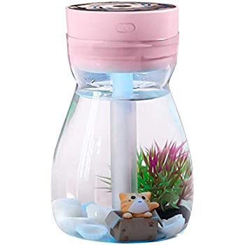 SODIAL Cute Cool Mist Humidifier Office Bedroom Air Purifier