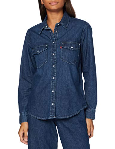 Levi's Essential Western Camisa, Air Space, Large para Mujer