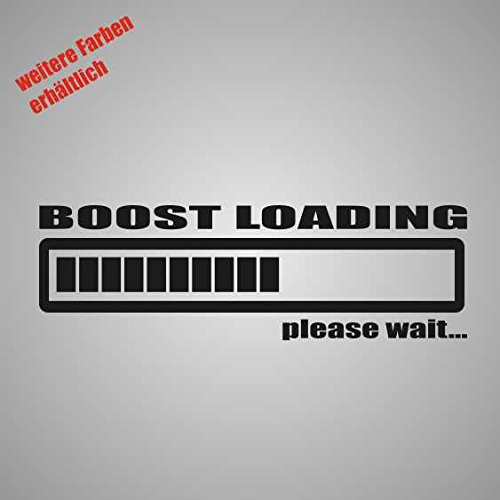Aufkleber Boost Loading Sticker Decal Folie Tuning (weiß)