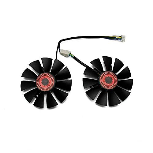 SISS Ventilador para tarjeta gráfica ASUS STRIX GTX1060 1050 GTX960 GTX950 GTX750 GTX750Ti R9 370 (2 unidades)