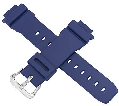 Genuine Casio Blue 16mm Resin G-Shock Watch Band
