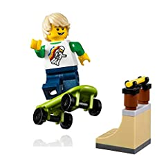 Lime Green Skateboard, and Cool Skate Rail and Ramp All included! Exclusive Figure From LEGO Set 31067 SMALL - Item Measures 2 Inches tall. LOOSE - Comes disassembled ready to build. (Loose Pieces - No Retail Packaging) Authentic LEGO Product