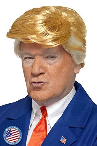Smiffys 48376 Smiffy's President Perücke, beige (Blonde), Einheitsgröße