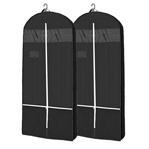 100 x 60 cm,Widerstandsf/ähiger und atmungsaktiver Vliesstoff aus 125 GSM LUGUXE Extrem robuste Kleiderh/ülle in Schwarz