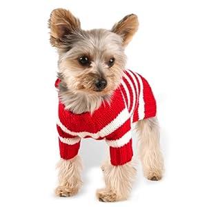 Stinky G Red Stripe Hoodie Dog Sweater Size #12