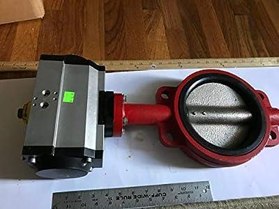 "New Pneumatech 6"" Butterfly Valve Va002040 W/ Pneumatic Actuator Va002669 0393 by Made in usa"