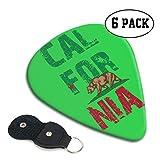 Púas de guitarra de celuloide clásicas de la bandera de California Bear 351 para guitarra eléctrica, acústica, mandolina, bajo y ukelelele, 71 mm, 6 unidades
