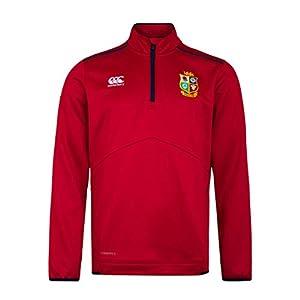 canterbury of New Zealand Men's British and Irish Lions Thermoreg Quarter Zip Fleece, Tango Red, XS by Canterbury