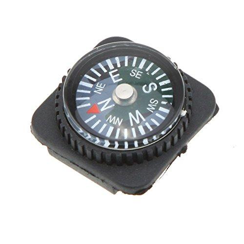 Senmubery 10Pzs Conjunto de Brujula de resbalon llenado Aceite para Correa de Reloj Paracord Pulsera Excursionismo Camping Al Aire Libre Viaje Herramienta de Supervivencia en Emergencia