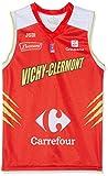 Vichy-Clermont Metropolis Baloncesto Vichy-Clermont - Camiseta Oficial para Exterior, Temporada 2018-2019, Unisex Adulto, Color Rojo, tamaño Small
