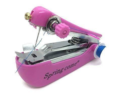 Mini Hand Nähmaschine OHNE Strom OHNE Batterien für Unterwegs und Zuhause PINK
