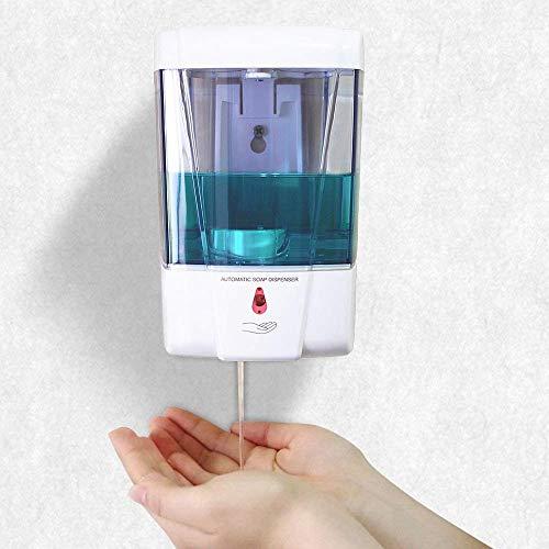 Dispensador de Desinfectante Manos, Dispensador de Jabón Automático Sin Contacto con Sensor de Movimiento Infrarrojo ,Evitar Las bacterias.Dosificador Jabon para Baños, Cocinas, Hoteles, Aseos-700ml