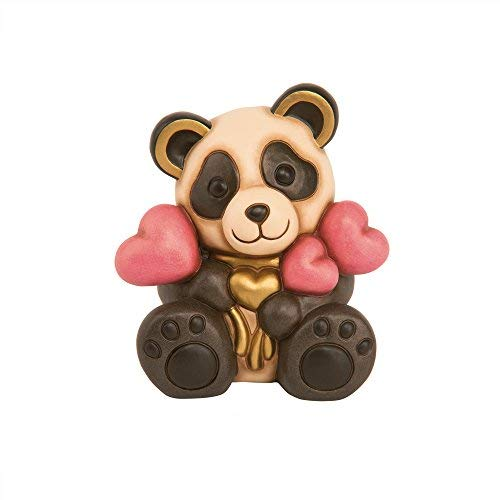 THUN® - Panda Romantico con Cuori Medio - Animali da Soprammobile da Collezione - Ceramica - I Classici