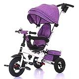 Triciclo for niños, Giro del Asiento de Bicicleta Triciclo for niños Vehículos for niños Inflable Gratuito Edad de Uso: 8 Meses a 5 años A++ ( Color : Purple )