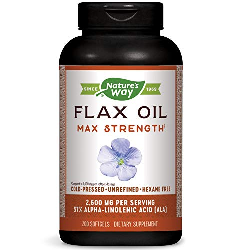 Natures Way Flax Seed, 200 Soft Gels, 1300 Mg