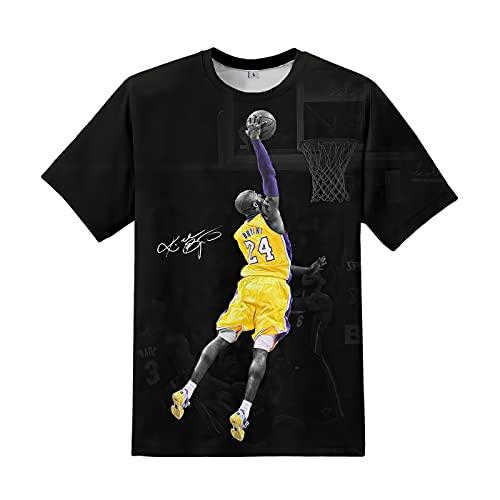 OIYSVN Men's RIP Forever Legends T-Shirt MVP 24 8 Fashion Short Sleeve 3D Printed Basketball Shirt Kobe1-Large