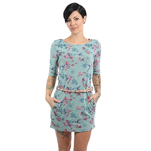 Ragwear Damen Kleid 3/4 Arm Tanya Flowers E