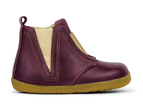 Bobux Step Up Signet Boot_Primeros Pasos - Una Bota en Piel de Suela Flexible. (Plum, 20)