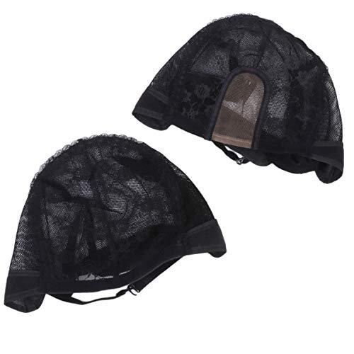 MILISTEN 2 Pcs Élastique Cheveux Maille Net Perruque Casquettes Noir pour Hommes Femmes Faisant Tissage Perruques Fournitures