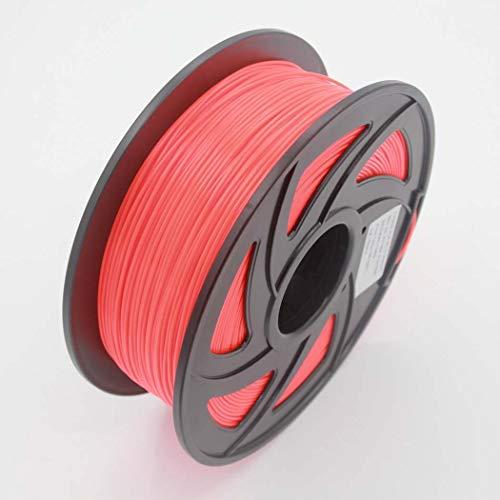 WSHZ Filament pour imprimante 3D PLA, précision dimensionnelle de +/- 0,03 mm, Bobine de 1 kg, 1,75 mm, Couleur Rouge Fluo, Convient à la Plupart des imprimantes FDM (Rouge Fluo Rose),8volumes