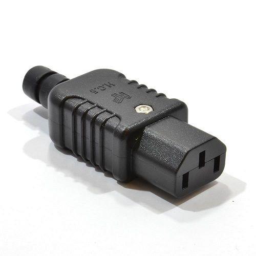 Conector alimentacion C13 Hembra 10 A Negro, Cablepelado®