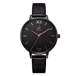 scheda sk moda donna orologio da polso cinturino in pelle orologio da donna impermeabile semplice, casual, elegante