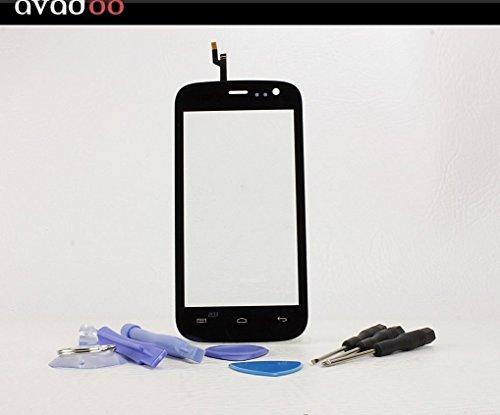 avadoo® Mobistel Cynus F4 Displayglas Touchscreen Schwarz Reparaturglas Touch Screen Display Glas für Mobistel F4 in Schwarz inklusive Werkzeugset und Beschreibung !!!