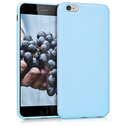 kwmobile Custodia Compatibile con Apple iPhone 6 Plus / 6S Plus - Cover in Silicone TPU - Back Case per Smartphone - Protezione Gommata Blu Chiaro Matt