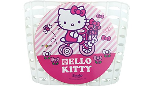 HELLO KITTY Bike Fashion Cesta para Manillar Blanco