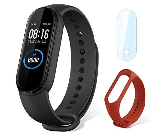 """Xiaomi mi Band 5 Smart Fitness Bracelet Cardiofréquencemètre, Trackers d'activité, étanche de Sport 5ATM Bluetooth 5.0 Couleur AMOLED Montre Connectée, 1.1"""" Screen Smartwatch pour iOS Android"""