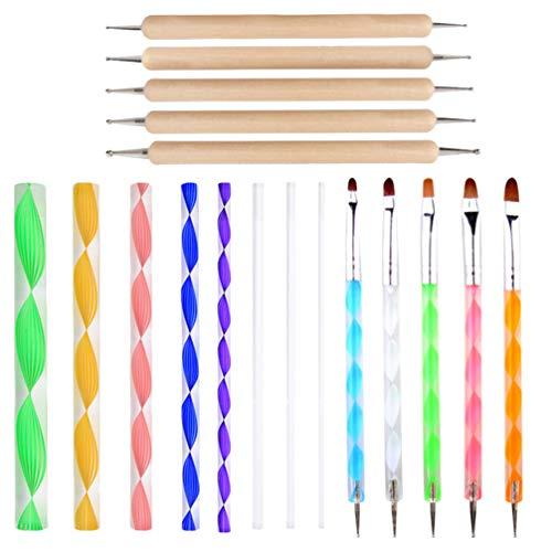 Artibetter 18St Mandala Puntjes Tools Stencil Mandala Schilderen Toolkits Borstels Verf Voor Het Schilderen Van Rotsen Kleuren Tekenen Tekenen Tekenen Art Supplies