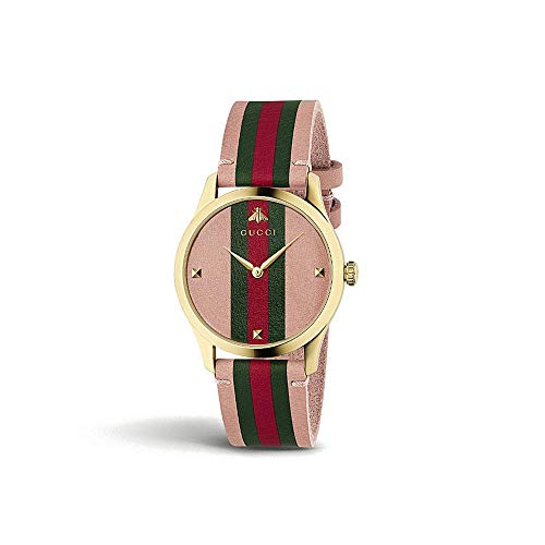 Gucci G-Timeless Gold and Leather Watch YA1264118