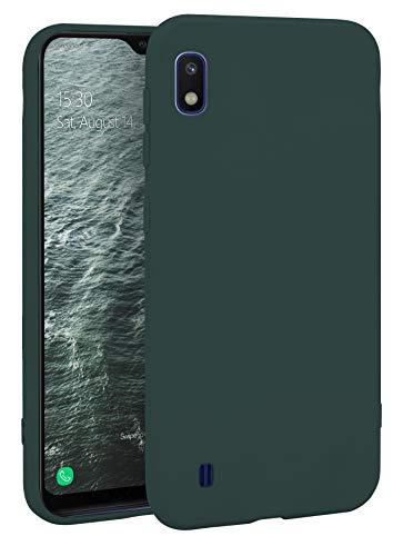 MyGadget Silikon Hülle für Samsung Galaxy A10 (2019) - robuste Schutzhülle TPU Hülle Slim Silikonhülle Back Cover Ultra Kratzfest Handyhülle - Matt Olivgrün