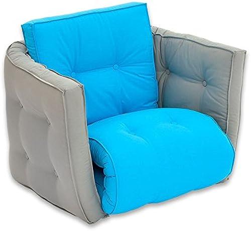 Sessel 'Sedia' grau blau